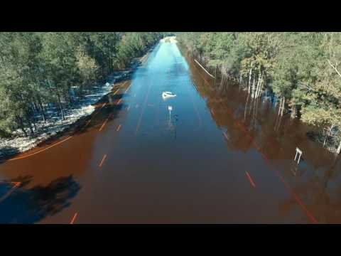 Drone Video: Lumber River Over Flowing 10-11-2016