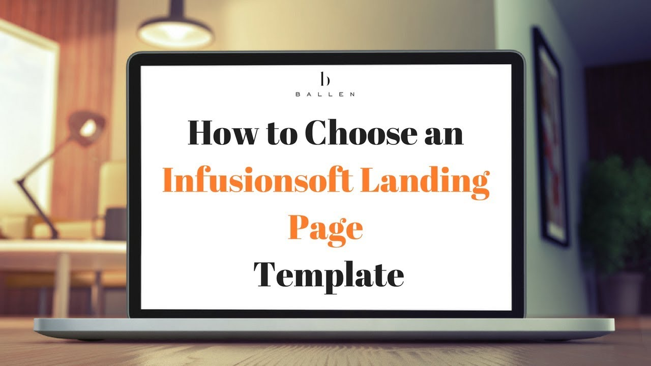 choosing an infusionsoft landing page template [step 1][3 43] youtube