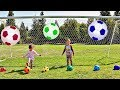 Learn Colors with Soccer Balls for Toddlers, Babies, and Children -  Learning Colours with Ball Toys
