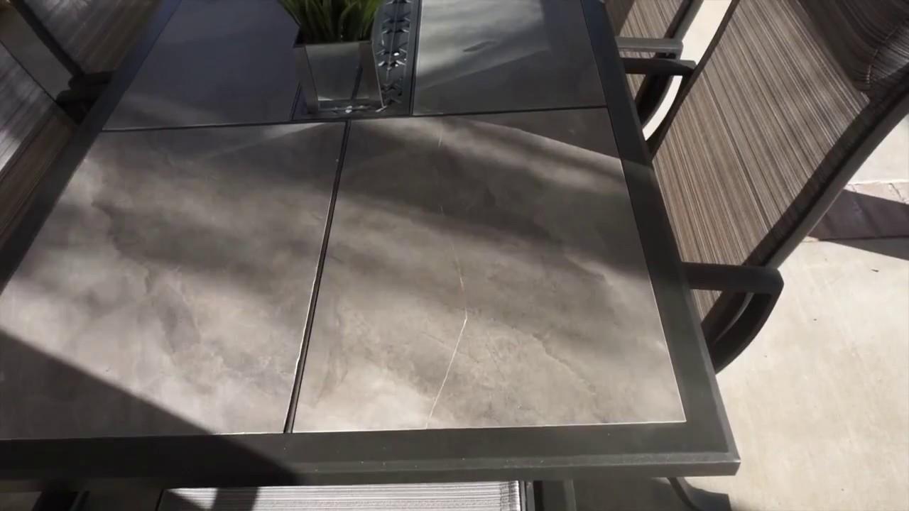 fix broken patio table tile