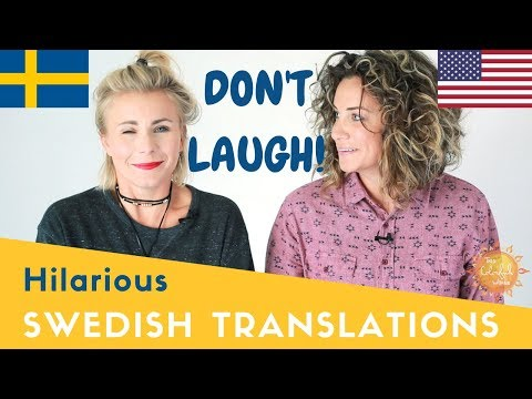 Try Not to Laugh Challenge: American Makes Swedish Wife Translate Words to English