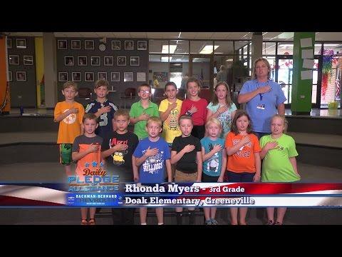 Daily Pledge of Allegiance: Rhonda Myers' 3rd grade class – Doak Elementary School