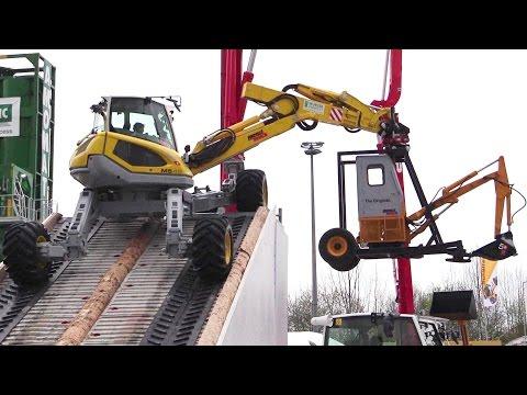 Amazing Menzi Muck M5 45 All-Terrain Excavator Demo Show @ Bauma 2016