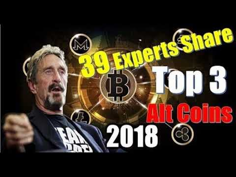 CRYPTO NEWS  _  39 Experts Share Their Top 3 Alt Coins For 2018   John McAfee