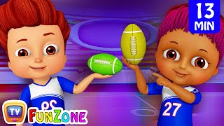 Learn Colors with Rugby - Kids Play with Colorful Playing Balls | ChuChu TV Funzone Games