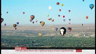47th annual balloon fiesta in New Mexico (fun story) (USA) - BBC News - 14th October 2019