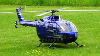 BO 105 RC ELECTRIC MODEL HELICOPTER LANDQUART 2019 SCALE MEETING
