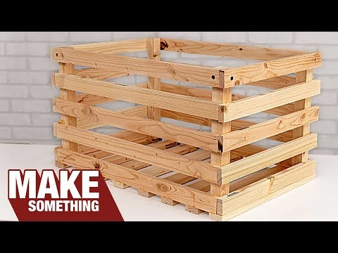 Make a Wood Crate from a 2×6 | Easy Woodworking Project