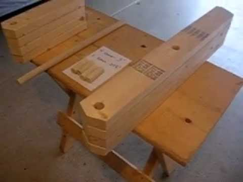FOLDING WOODEN WORK TABLE PART 3 OF 9 - YouTube