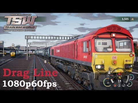 Drag Line : Great Western Express : Train Sim World 1080p60fps