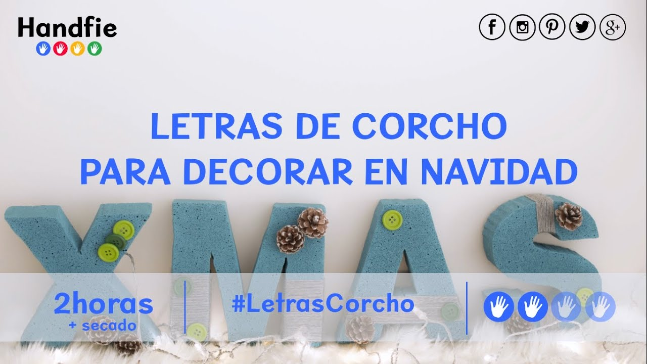 C mo hacer letras de corcho para decorar youtube - Letras scrabble para decorar ...