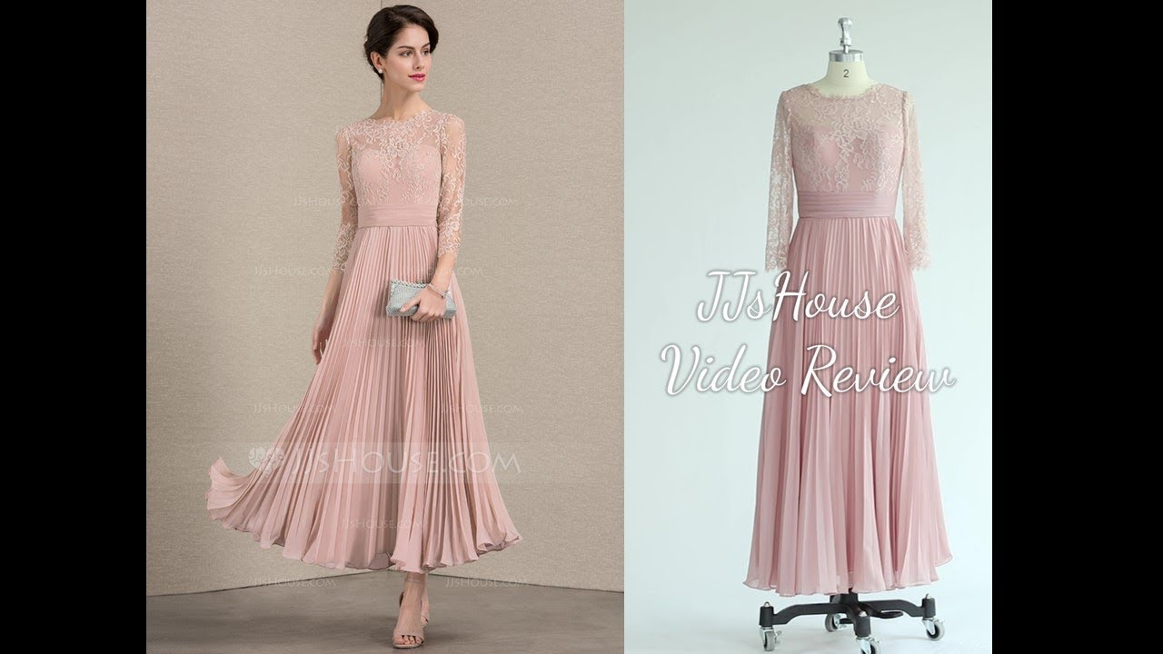 b5df88583aa8 Fashion Chiffon A Line Princess Scoop Mother Of The Bride Dresses