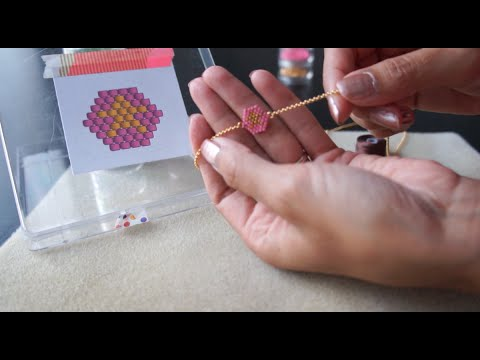 tutoriel de tissage de perles en brick stitch fran ais youtube. Black Bedroom Furniture Sets. Home Design Ideas