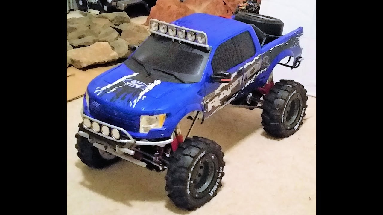 d2b794810aee RC 1 6th Scale - Rock Crawler in SNOW -- New Bright F150 RAPTOR   CLOD  BUSTER - 7 INCH TIRES!!