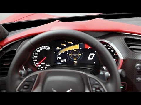 Chevrolet Corvette Stingray >> 2014 Chevrolet C7 Corvette Stingray Reconfigurable Gauge Cluster | Autoblog - YouTube