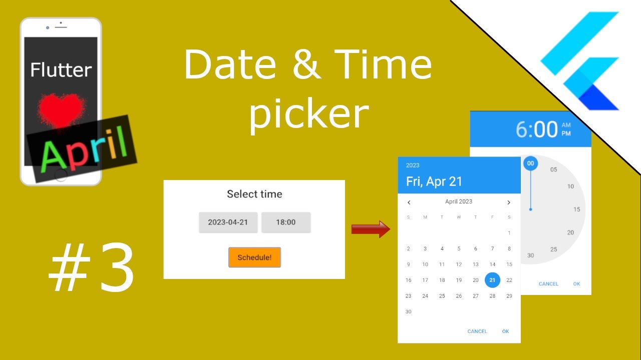 Date & Time picker - Flutter