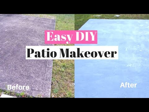 DIY Painting a Concrete Patio | Easy Patio Makeover using Behr Porch & Patio Paint