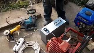 как сделать генератор из мотоблока и асинхронного двигателя
