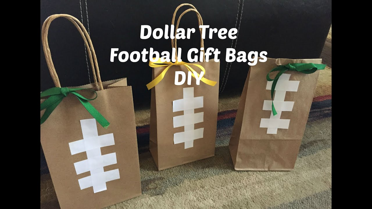 Dollar tree football gift bags diy youtube