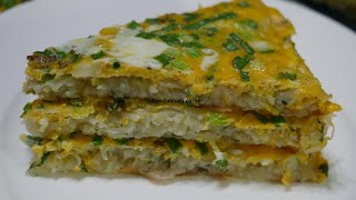 Two in one meal with potato and eggs Hash Brown Omelette
