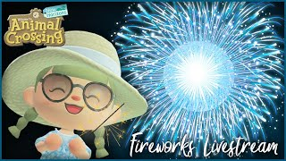 Watching My Custom Fireworks \u0026 Trying Redd's Raffle in Animal Crossing! Late Night Livestream