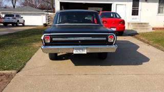 1964 Chevy Nova exhaust. 355 with Thrush mufflers