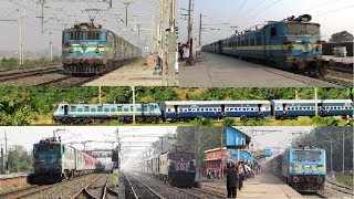 LHB & ICF Trains with WAG-7 Locomotive - 14 in 1 Compilation !!