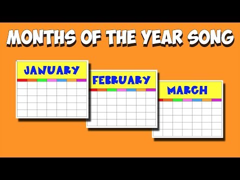 Months of Year Song!