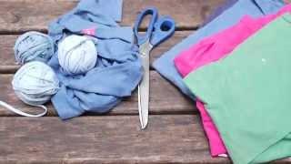 Como fazer fio de malha com camisetas