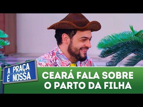 Ceará conta detalhes do parto da filha | A Praça é Nossa (24/05/18)