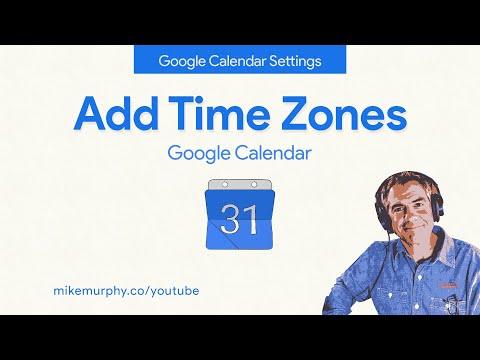 Google Calendar: How To Add Time Zones (World Clock)