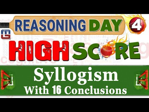 Syllogism With 16 Conclusions | Day 4 | Reasoning | Latest T