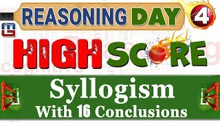 Syllogism With 16 Conclusions | Day 4 | Reasoning | Latest Tricks | IBPS RRB 2017