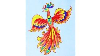 Уроки рисования. Как нарисовать жар-птицу фломастерами ArtBerry