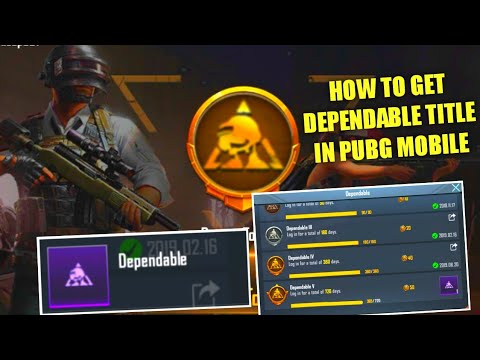 HOW TO GET DEPENDABLE TITLE IN PUBG MOBILE | HOW TO COMPLETE DEPENDABLE ACHIVEMENT IN PUBG MOBILE