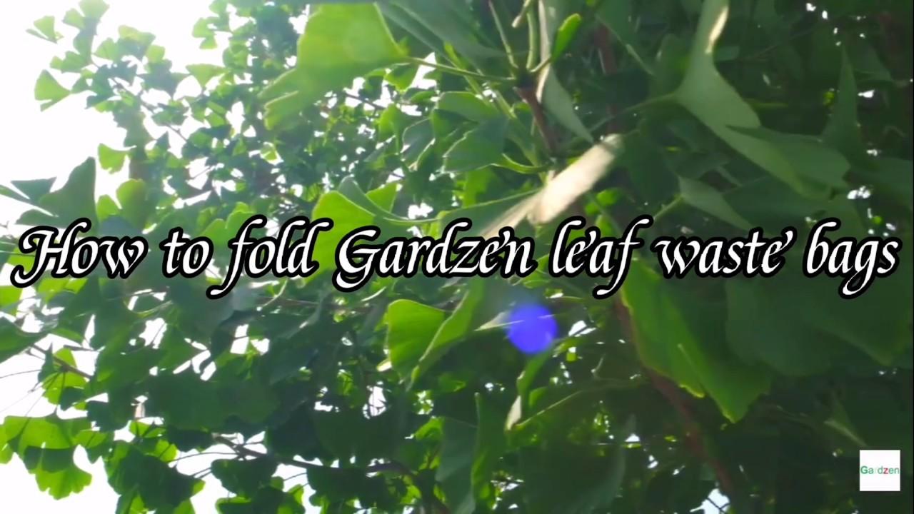 Nouveaut/é 2020 Sac de jardin en toile extr/êmement robuste Sac /à feuilles durable Sac de jardin pop-up avec couvercle 272 l Auto-debout Benz Garden/® Sacs poubelle de jardin
