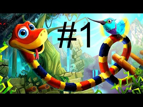 Snake Pass Gameplay Walkthrough Part 1 - I'm A Sssnake! | PS4 XBOX ONE PC Switch