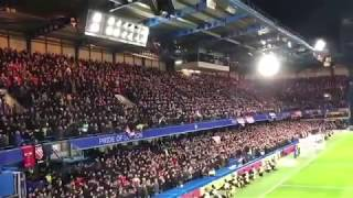 Manchester United Fans at Stamford Bridge  'Ole's at the wheel