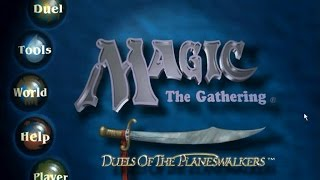 Magic: the Gathering gameplay (PC Game, 1997)