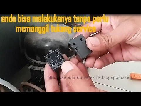 Cara memperbaiki kulkas 1 pintu problem PTC relay rusak LENGKAP