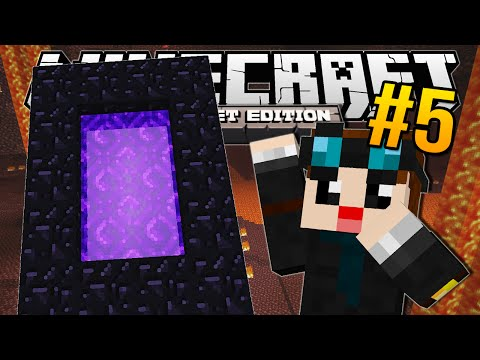 Minecraft Pocket Edition | POCKET NETHER!! | #5
