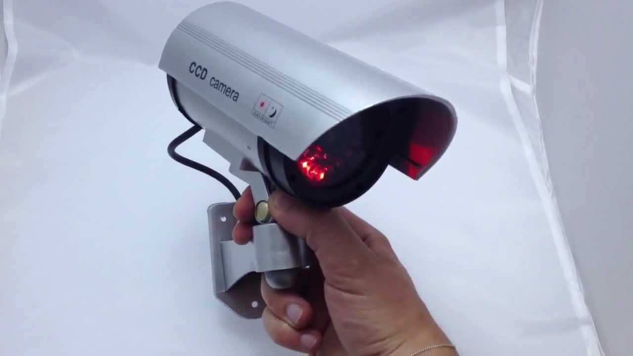 telecamera Sorveglianza videosorveglianza finta da esterno con led luminoso LOMBARDOSHOP - YouTube