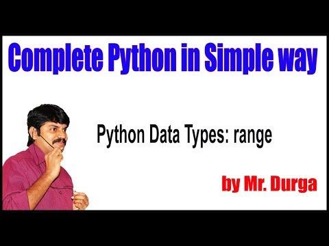 Fundamental Data Types ||   Python Data Types range || by Durga Sir thumbnail