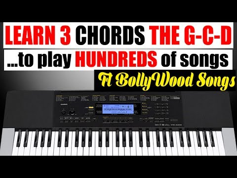 Piano For Beginners- Learn & Play Many Easy SOngs -(GCD) Chords -  on Keyboard/Piano/Harmonium