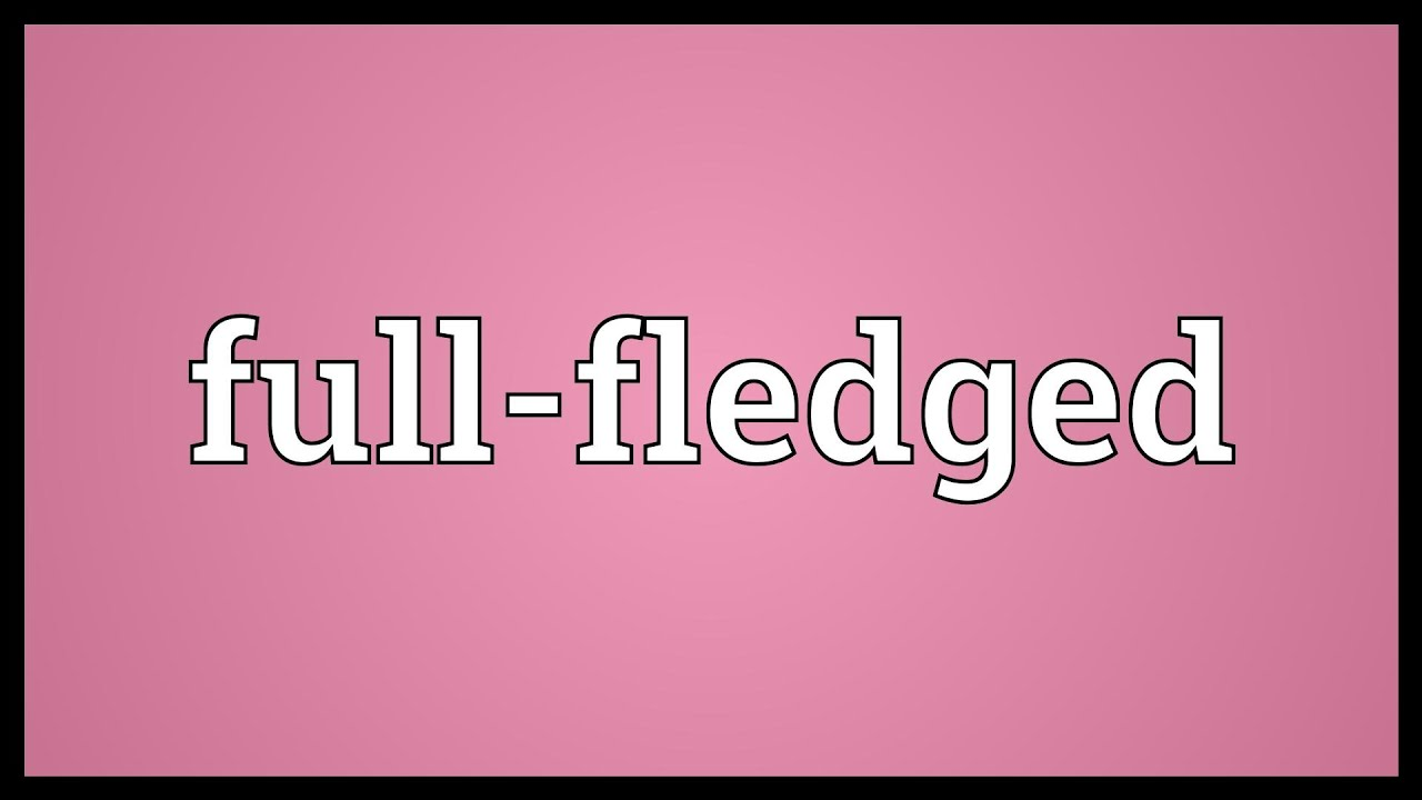 what does full fledged mean