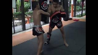Kwanfa training for fight on 21st of November