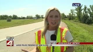 Live shot: Semi driver arrested after being pulled over on I-94