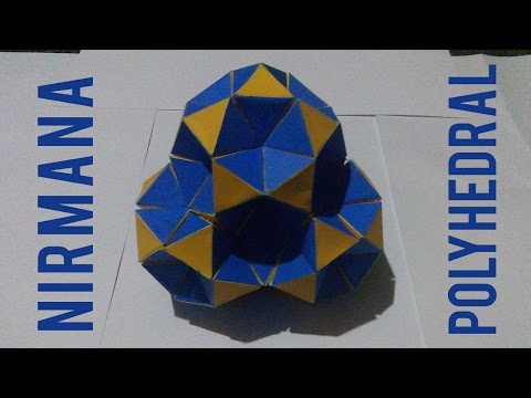 Cara Membuat Nirmana Trimatra Struktur Polyhedral | Nirmana Polyhedron 3D