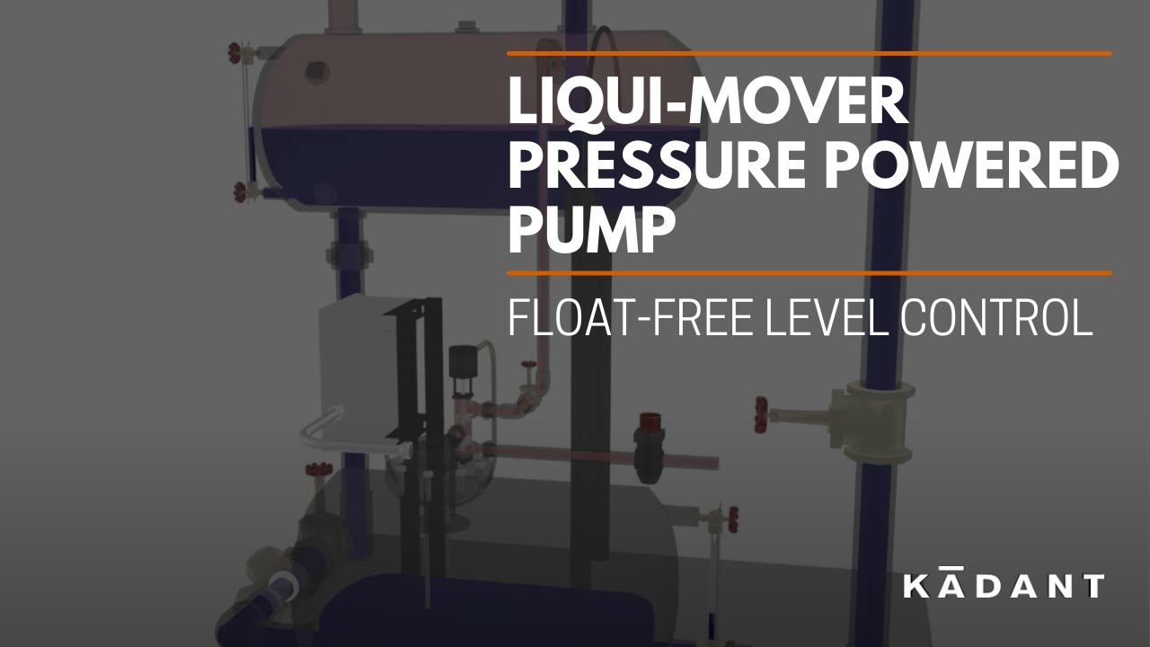 Liqui Mover Pressure Powered Pump Float Free Level