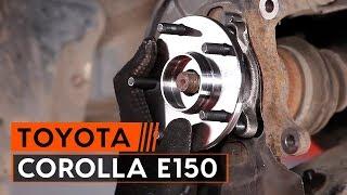 Cum se înlocuiesc rulmentul butucului roții din față pe TOYOTA СOROLLA E150 Sedan [TUTORIAL AUTODOC]